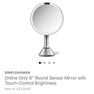 SIMPLE HUMAN LED VANITY MIRROR